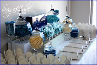 Blue Christening Lolly Buffet